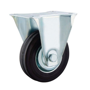 75mm rubber wheel industrial black rubber caster