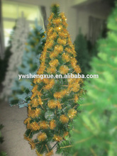 Gorgeous Artificial Plastic Christmas Tree Yellow Color Xms Tree PET Christmas Tree