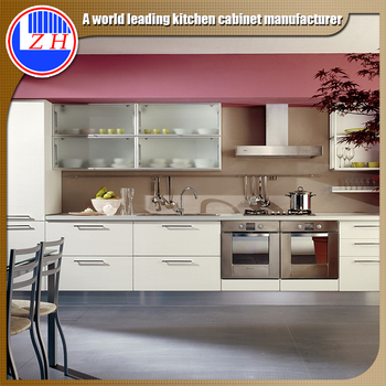 Australia Apartemen Gloss Finish Putih Desain Kabinet Dapur Kecil Mini