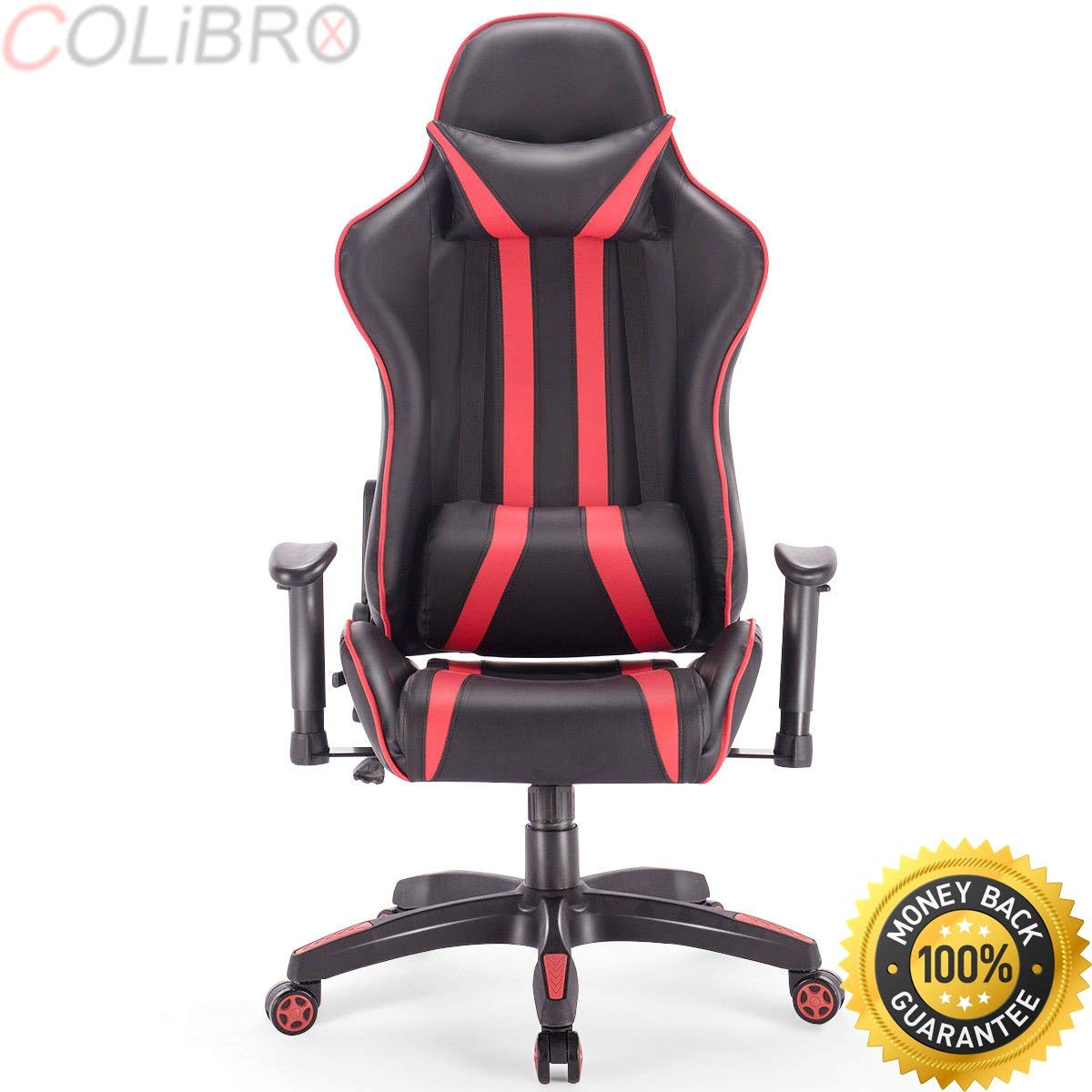 COLIBROX--Gaming Chair Racing High Back Reclining Chair Office Desk Task Computer Swivel. executive racing style high back reclining chair gaming chair office computer. ergonomic racing gaming chair.