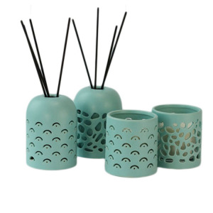 Factory supply many styles ceramic reed diffuser jar holder bottle