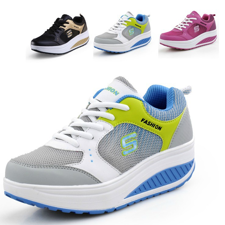 Women's Fashion Sneakers Height Increasing Breathable Sport Running platform  Shoes Wedges women Sandals shoes high heels sandal