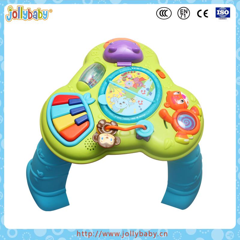 Portuguese Learning Toys : Plástico mesa de aprendizagem musical brinquedo crianças