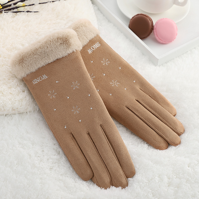 Hot sale fancy dresses for girls fleece touch screen women winter fashion gloves