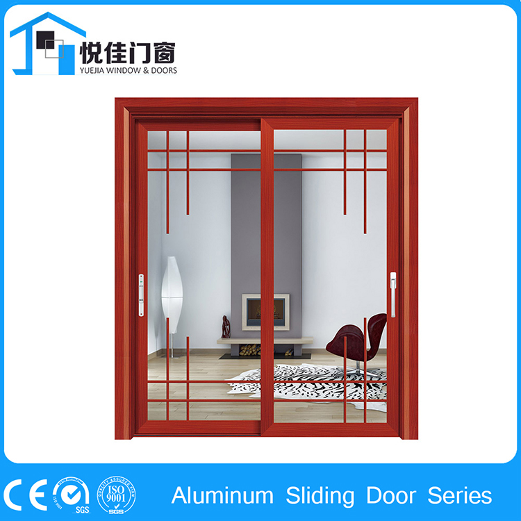 Low radiation glass sliding aluminum alloy patio doors for Non sliding patio doors