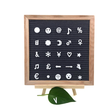 Home decoration handcraft Oak Wooden black felt emojis for letter board