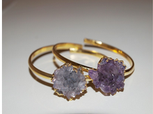 Bangle with Amethyst Rose