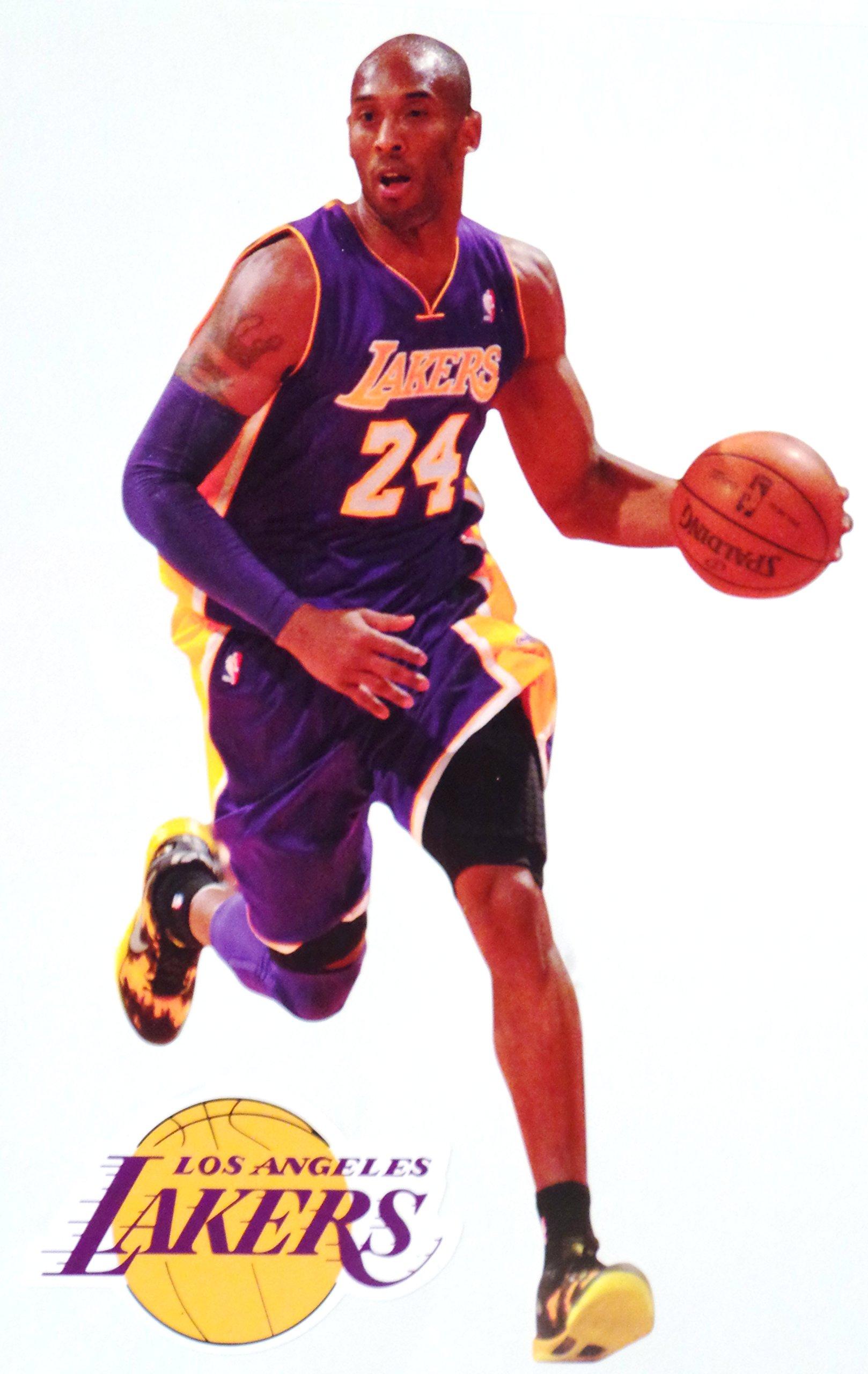 3f358906 Get Quotations · Kobe Bryant Mini FATHEAD + Los Angeles Lakers Logo  Official NBA Vinyl Wall Graphics 7