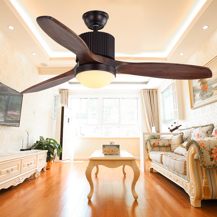 New come wall switch decorative 56'' 3 blades wood cooling air ceiling fan with light