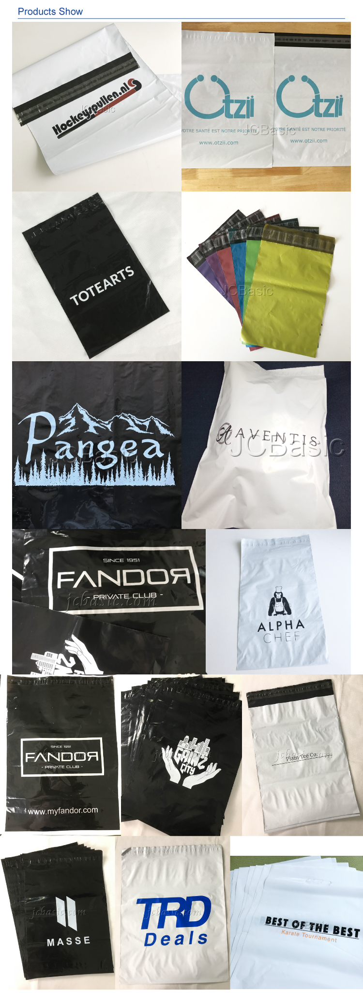 customized print poly courier bag/mailer with logo by screen print for shipping