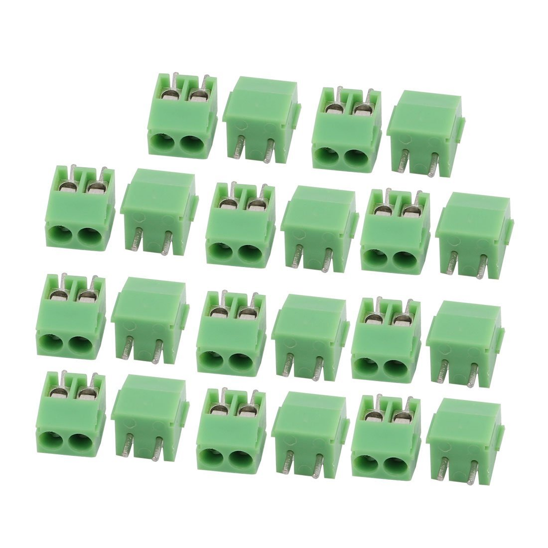 uxcell 22Pcs AC 300V 10A 3.5mm Pitch 2P Terminal Block PCB Mount Wire Connection