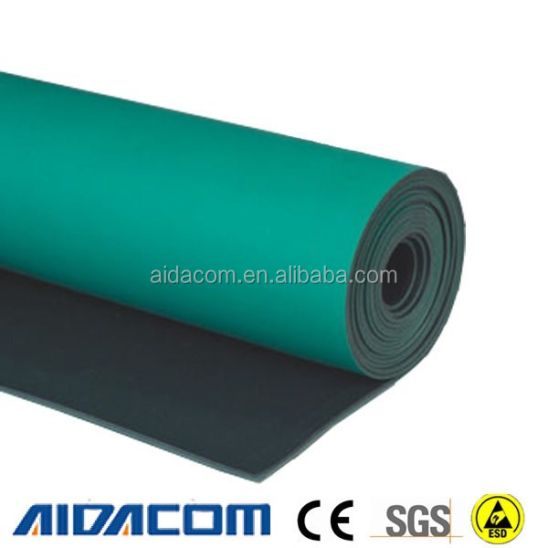 2 layers dull or shiny ESD mat,ESD table mat, Antistatic ESD rubber mat