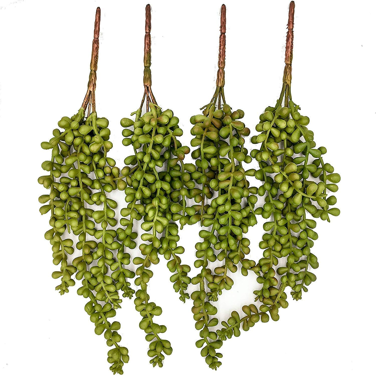 Artificial Succulent Plants 4Pcs Box Set, String of Pearls, Lovers Tears 13.3 Inch Hanging Plants for Home, Office, Cafe, Restaurant, Wedding, Arts Craft Project by Superior Succulents