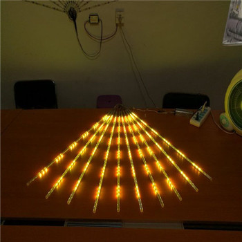 80cm 12v led meteor rain light for decoration tree led snowfall tubes led christmas lights