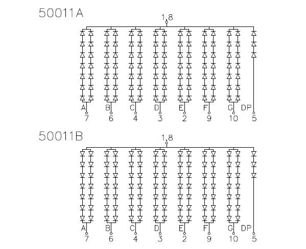 7-segment led display digitron common cathode 1 digit led digital display 5 inch
