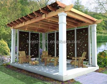 Wood Plastic Garden Pergola Pergola Curtains Commercial Plastic Curtains
