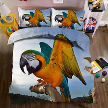 Sveglio all'ingrosso Speciale Uccello Animale <span class=keywords><strong>Cane</strong></span> Disegno 3D Digitale Stampata, Lastre Piane Copertura <span class=keywords><strong>di</strong></span> base, Quilt Cover Set