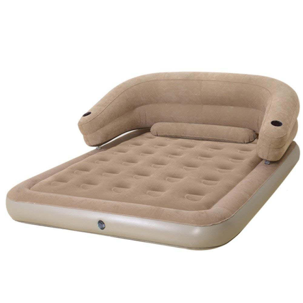 ZHXUANXUAN Continental Inflatable Mattress Back Air Mattress Double Folding Portable Inflatable Bed Thick Flocked Waterproof Air Bed,A