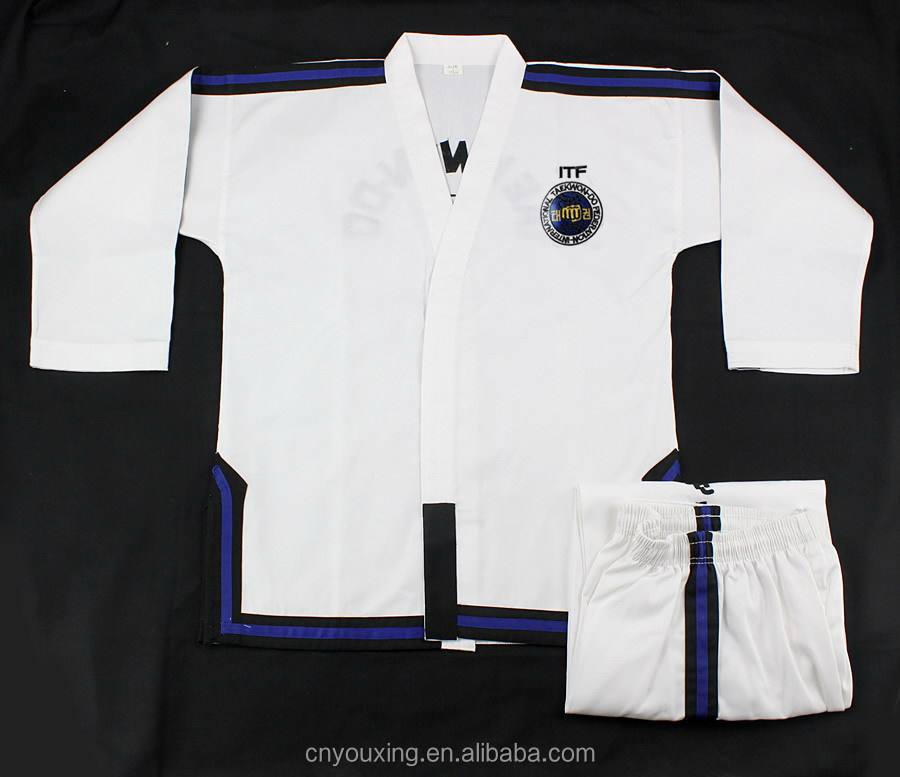Martial arts ITF taekwondo master uniform