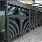 Outdoor shutter sun shade electric telescopic flipping louver