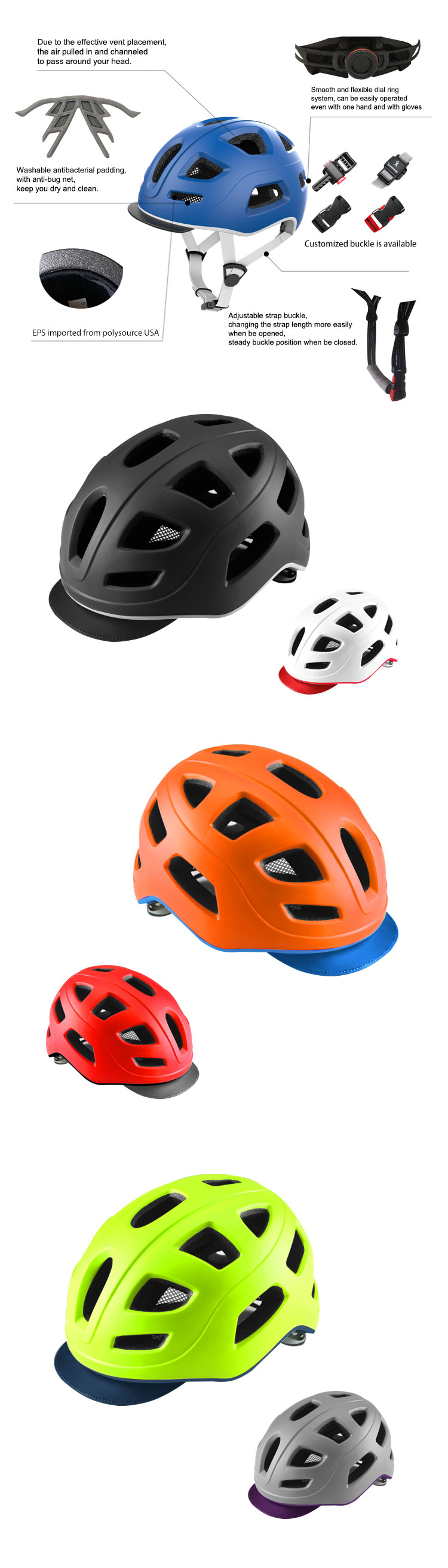 Custom Bike Helmet With Removable Led Safety Light For City Riding View Bike Helmet Easetour Product Details From Shanghai Transo Import Export Co Ltd On Alibaba Com
