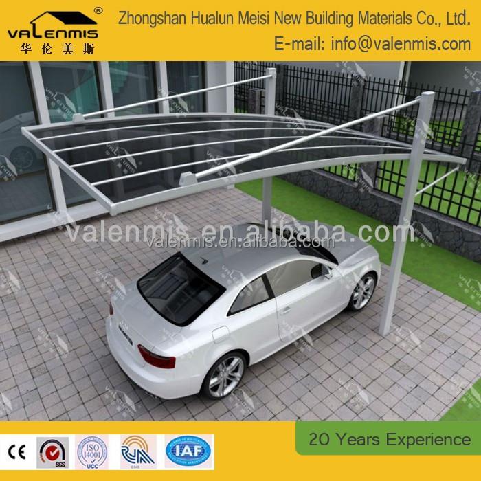 Posto auto coperto singolo tubo piatto in policarbonato for Piani garage separati con posto auto coperto