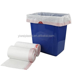 Manufacturer Wholesale 100% Prime Material 8 Gallon Drawstring Garbage Plastic Bag