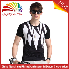 New custom design t-shirts for men polyester slim fit men's t shirt for wholesale china