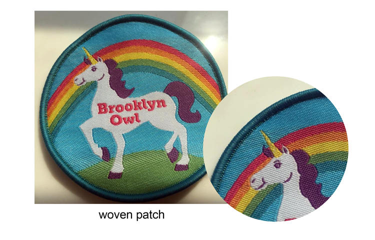 Custom softer Rubber Patch for outing costume