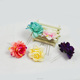 Holiday Five Color Rose hair Clip wreath for bride of headwear