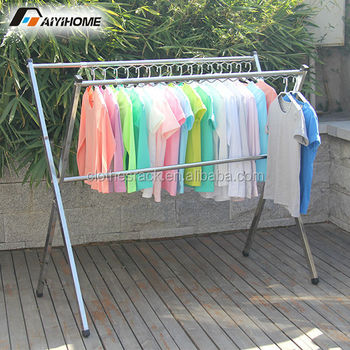 Heavy Duty Stainless Garment Drying Rackcollapsible Hanging Cloth