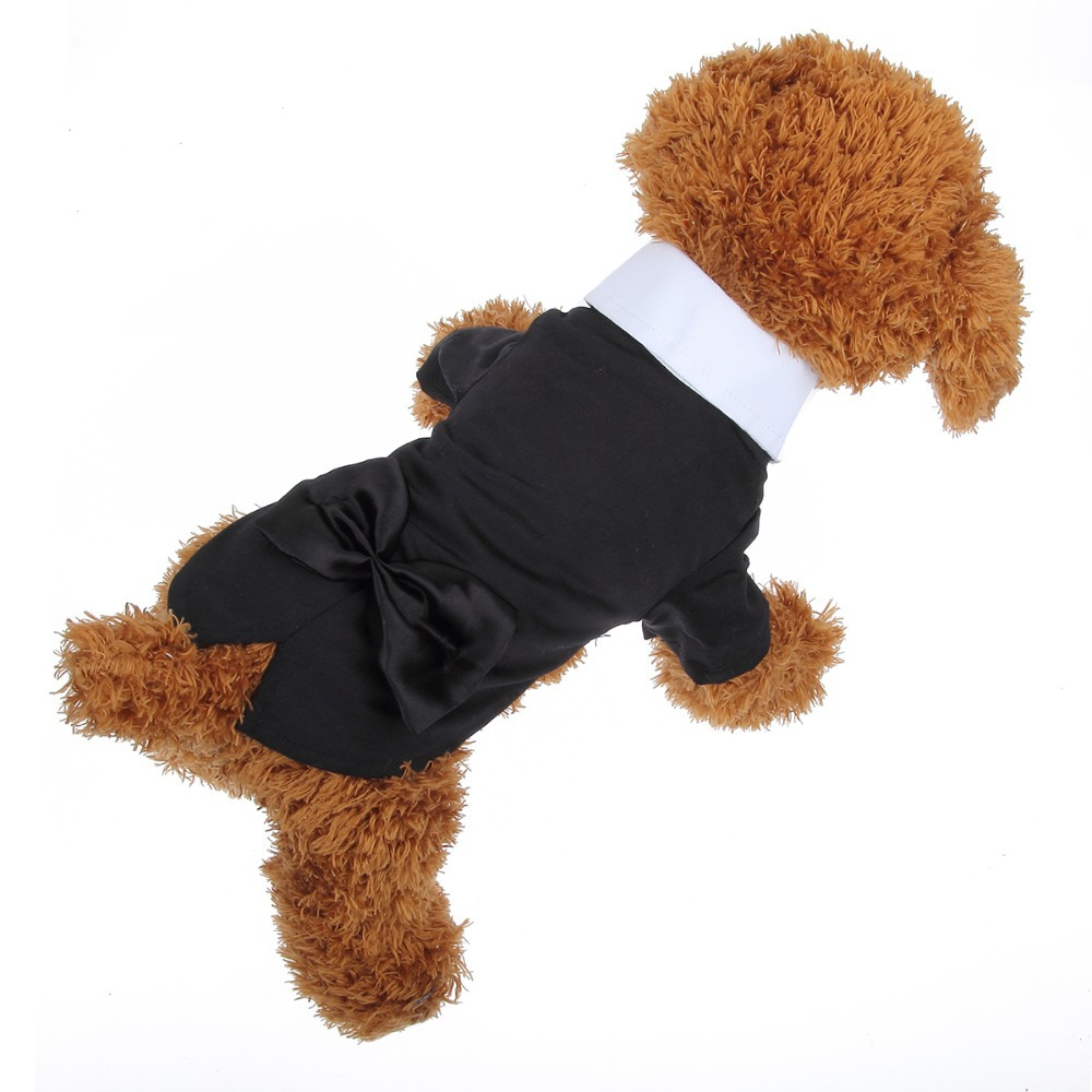 Black Pet Dog Clothes Tuxedo Jacket Clothing Puppy Animals Chihuahua Clothing For Dog Suit