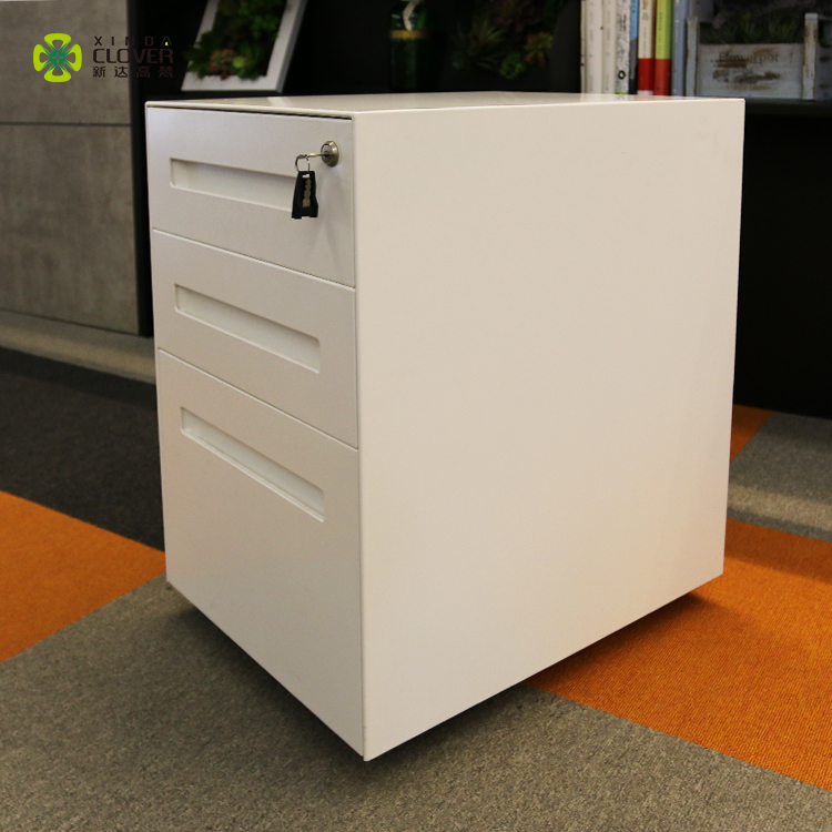 Best price height quality under desk key lock filing cabinet 3 drawer metal file cabinet for home/office
