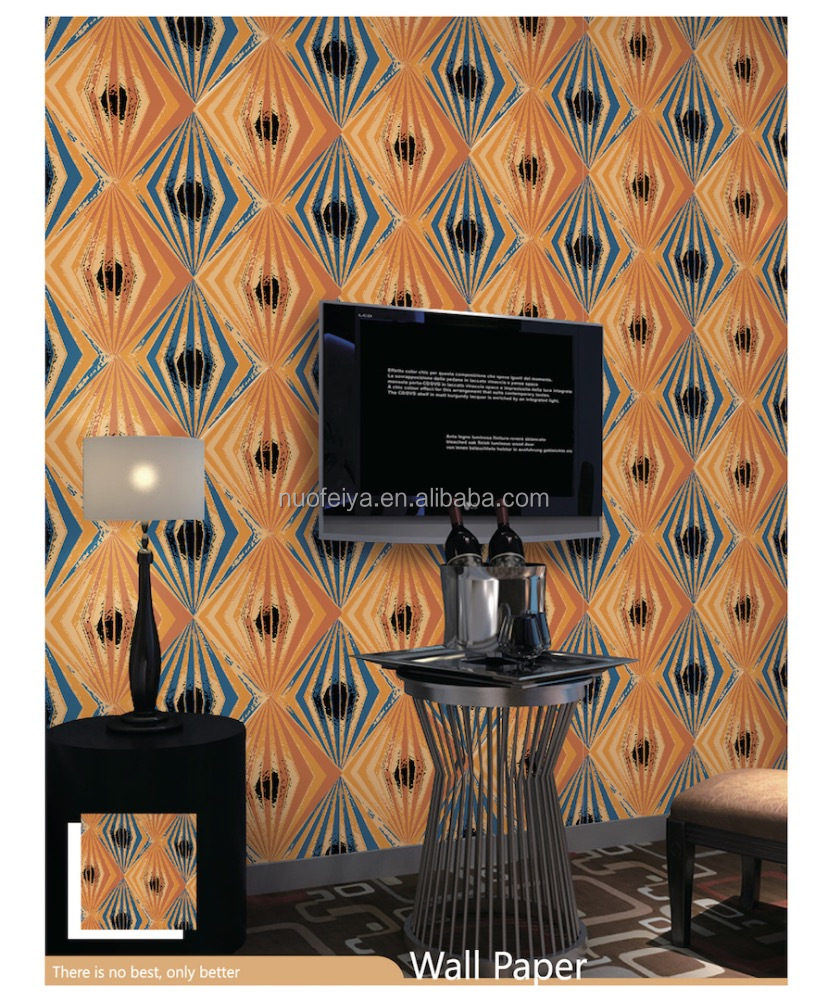 3D PVC modern hotel bar coffee store decoration wallpaper
