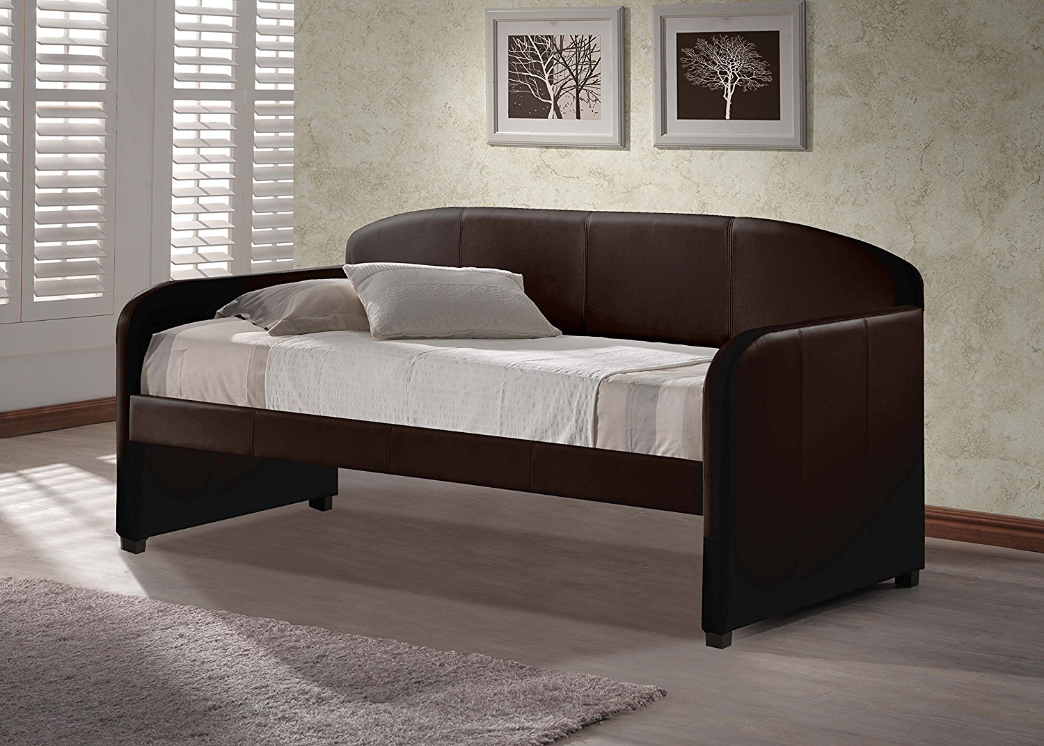 "Hillsdale 1613DB Springfield Daybed, 42.5"" D x 82.5"" L x 37"" H, Brown"