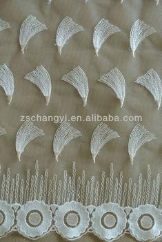 Allover Scolloped Embroidery Design Lace Fabric