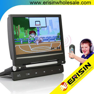 "Erisin ES398 9"" Digital Screen Car Monitor Headrest 720P RMVB DVD"