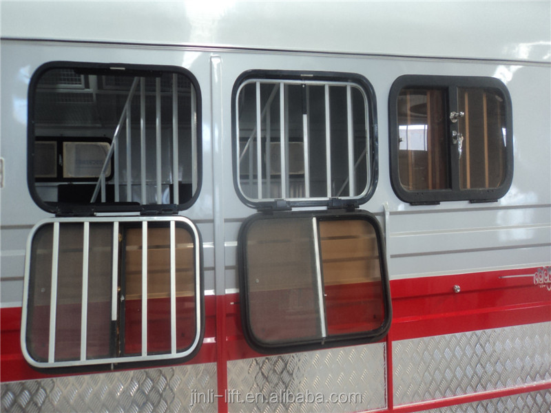 feed window horse float aluminum frame drop down side window