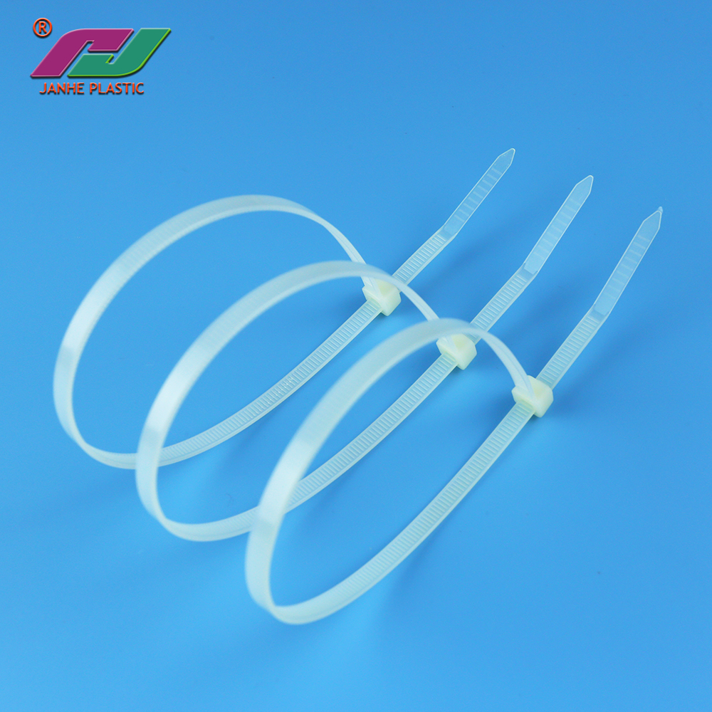 China manufacturer cable tie sizes nylon 66 self-locking numbered cable zip ties elastic nylon plastic cable ties