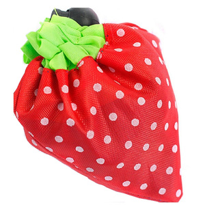 Foldable Reusable Polyester Strawberry Shopping Bags