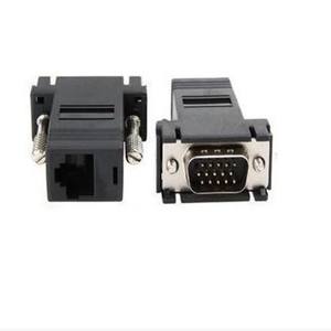VGA to RJ45 Adapter CAT.5 CAT.6 Transmission VGA signal VGA to Network Line