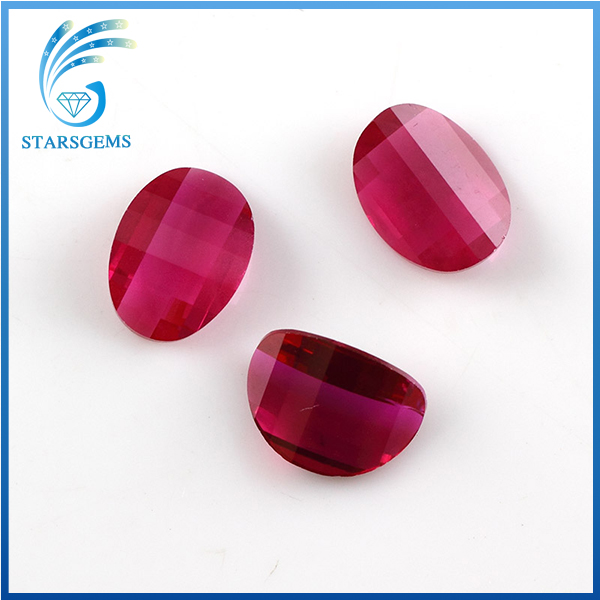 special cutting special shape 5# synthetic ruby gemstones