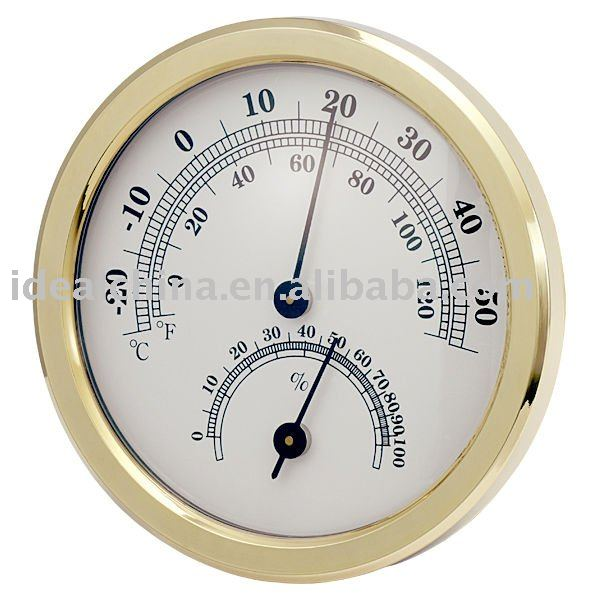 gold indoor outdoor thermometer and hygrometer TH108