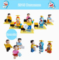 Kids DIY Toys Cartoon Anime Doraemon Mini Figure Plastic Model Kits Building Bricks Blocks Compatible LEGOE