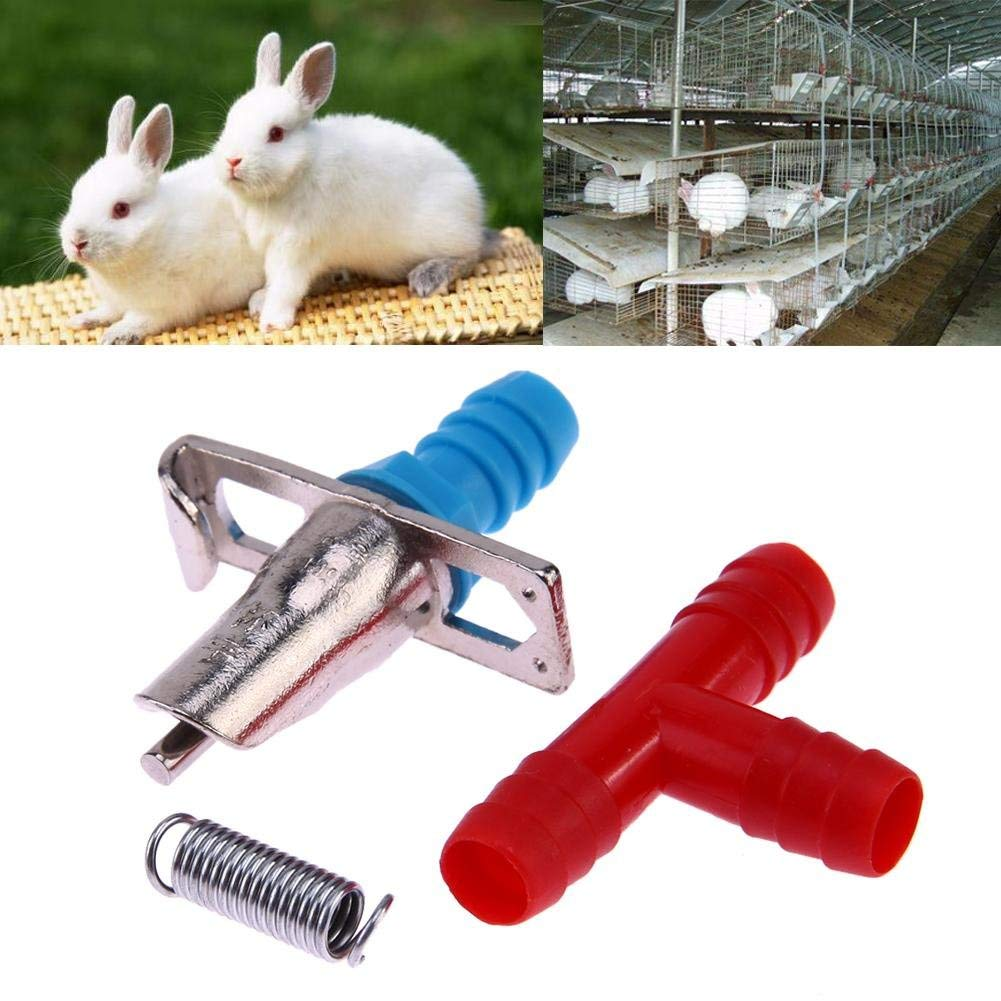 Domybest 20pcs Rabbit Nipple Water Drinker Waterer Poultry Feeder Tools