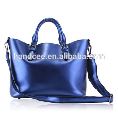 Brand Wholesale & custom cheap high-quality colorful PU leather lady tote bag