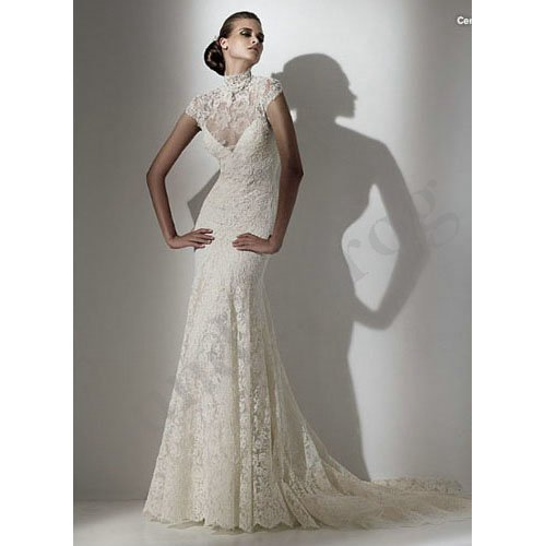 Turtleneck Wedding Gown