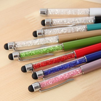 Hight quality colorful crystal stylus pen