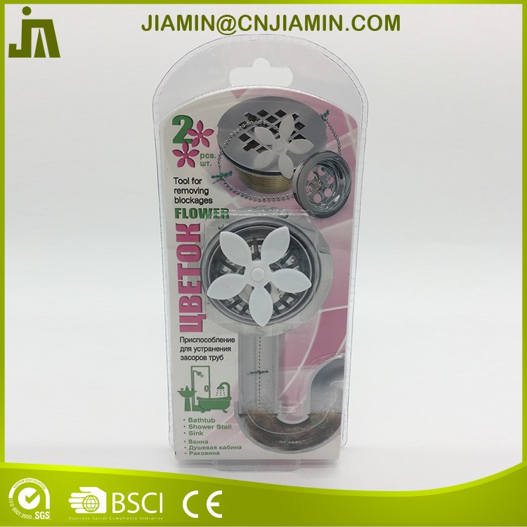 Plastic shower drain hair catcher