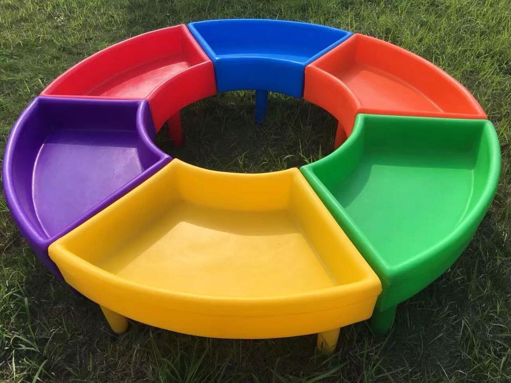 Novo item de festa de jardim de infância mesa De Plástico e cadeiras set, o jogo de mesa
